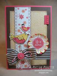 Really cute!  This card uses our June Stamp of the Month set.  Ask me how to get the stamp set for $5.00