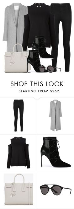 """Sin título #11995"" by vany-alvarado ❤ liked on Polyvore featuring J Brand, ADAM, Vera Wang, Yves Saint Laurent, Christian Dior and Fallon"