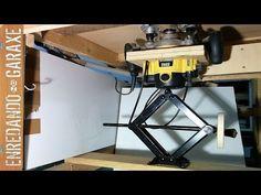 Detalle del elevador de la mesa de la fresadora / Close up of the router table lift - YouTube
