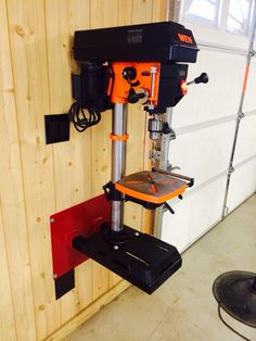 Drill press wall mount
