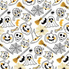 Halloween Vector, Halloween Banner, Halloween Prints, Halloween Patterns, Halloween Cards, Free Vector Illustration, Pattern Illustration, Vector Illustrations, Halloween Wallpaper Iphone