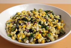 This is the time of year for corn and we eat it at least once a week during the summer. Sometimes it's nice to have corn in different ways other than right off the cob. This salsa tastes like… Food Network Recipes, Cooking Recipes, Healthy Recipes, Skinny Recipes, Healthy Foods, Great Recipes, Favorite Recipes, Yummy Recipes, Cilantro Lime Rice