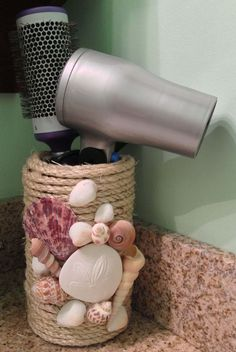 Without the seashells though, cute for a counter storage