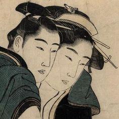 #Artist: #Kitagawa #Utamaro #Print: #Utamaro #Shunga Dates: 1790s Dimensions: 15.0 in,9.875 in Medium: #Japanese #woodblock #print #ukiyoe #erotica #lovers #couple #cheektocheek #omg #tattoo #japaneseculture #antique #vintage #drawing #design #art #woodcut