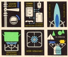 Gas - vintage graphics from Eastern Europe, uploaded by Present & Correct
