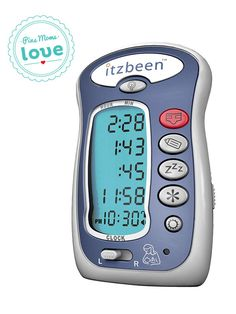 Keep track of Baby's eating, sleeping and diapering schedules with the Itzbeen one-touch baby care timer. A helpful tool for the busy parent!