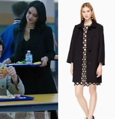 """Riverdale: Season 1 Episode 13 Veronica's Scalloped Coat 