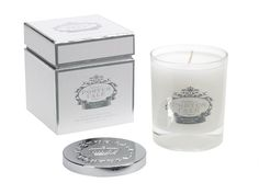 Portus Cale White Silver Candle - Made in Portugal  Distributed in Australia by Supertex