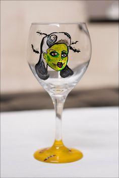 * Zombie Girl Wine Glass *