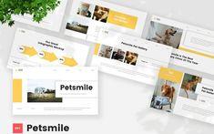 Petsmile - Pet Care & Vetenary Powerpoint Template PowerPoint Template Creative Presentation Ideas, Ppt Themes, Creative Powerpoint, Pet Care, Make It Simple, Templates, Orange, Pets, Stencils