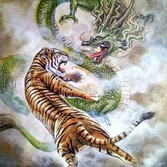 Oil Pastel Techniques, Chinese Tiger, Tiger Dragon, Tiger Tattoo Design, Tiger Illustration, Tiger Art, Chinese Painting, Art Drawings Sketches, Artist Painting