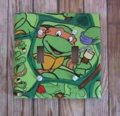 Ninja Turtles  - Double -  Turtle Switch Plate  - Cute for Nursery, Children's Room by KumbierKreations on Etsy https://www.etsy.com/listing/176172773/ninja-turtles-double-turtle-switch-plate