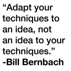 The crux of the creative ad process.   Don Draper Versus Bill Bernbach, Who YaGot?