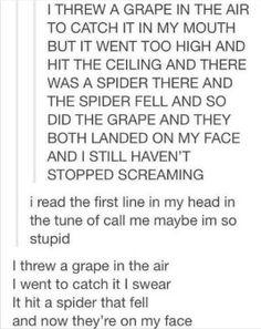 I threw a grape in the air
