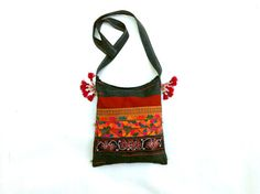 Tribal Shoulder Bag Remade From Vintage Ethnic by orientaltribe11, $55.00