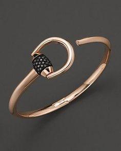 3a5a4f2274 Gucci Marina Bracelet with Black Pave Diamonds