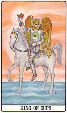 King of Cups - Golden Dawn Tarot King Of Cups, King Cup, Le Tarot, Tarot Card Decks, Cartomancy, Oracle Cards, Tarot Reading, The Elf, Archetypes