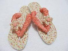 Resultado de imagem para chinelos customizados com tecido
