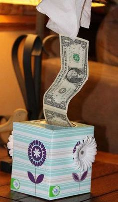 Surprise your friend with a tissue box of $$$ (Top 24 Cheap and Easy Last-Minute DIY Gifts for This Christmas)