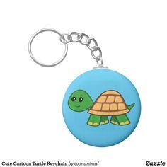 Cute Cartoon Turtle Keychain