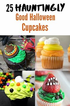 Looking for some ghoulishly fun Halloween treats? Check out our list of 25 Hauntingly Good Halloween Cupcakes here! #Halloween #HalloweenCupcake #HalloweenFood #Halloweenparty #Halloweentreats #DIYHalloween Best Dessert Recipes, Cupcake Recipes, Fun Desserts, Dog Food Recipes, Delicious Desserts, Yummy Food, Holiday Cupcakes, Halloween Cupcakes, Cute Halloween Food