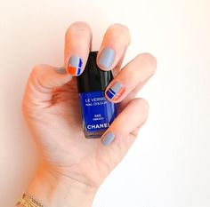 Nail art blu! ✌️ #nails #art #style #fashion