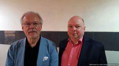 Prof. Kaufmann (left) and Dr. Grode. - Photo R. Prasad