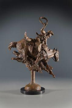 The Ridge Rider by Herb Mignery Western Art, Western Cowboy, Sculptures, Lion Sculpture, Heritage Museum, Cowboy Art, Photography Illustration, Glass Photo, Bronze Sculpture
