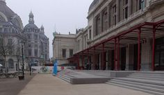 Entrance Steps and large slabs of Hall Queen Elisabeth in Antwerp by URBASTYLE