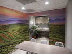Interior branding: Temecula Valley Toyota located in Temecula, CA. Contact DesertWraps.com at 760-935-3600. #Temecula #InlandEmpire #Dealership #WallWrap #Design #WallDesign #GrapeField