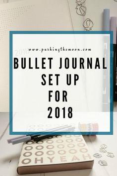 Bullet Journal Set Up for 2018