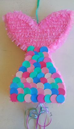 how fun is this mermaid pinata? Birthday Pinata, Mermaid Theme Birthday, Little Mermaid Birthday, Little Mermaid Parties, 2nd Birthday Parties, The Little Mermaid, Mermaid Party Decorations, Birthday Party Decorations, Mermaid Pinata