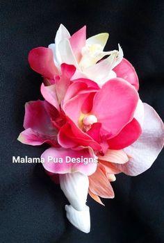 Orchid plumeria flower clip bridal silk hair flowers hair tropical hair flowers silk flowers hair clip wedding flowers bridal mightylinksfo