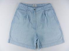 Christopher Banks High Waist Pleated Denim Jean Shorts Womens Sz 6 8 Komo | eBay