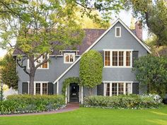 See the cool landscaping and exterior decorating ideas from Pasadena California in HGTV Magazine