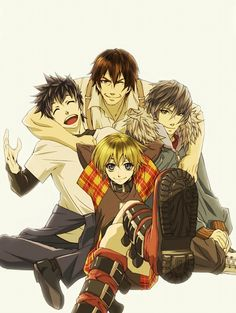 ~Keisuke, Motomi, Rin ,Akira~ Happy days (: (togainu no chi) // I just know the anime, no clue what the game's like (heard some stuff, though), so plz don't judge ;) ---> Update: watched a video about the game and I'm definitely too innocent for this xD