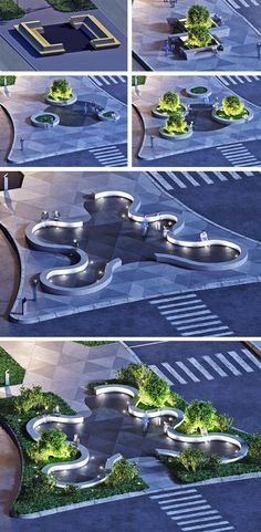 Благоустройство улицы Степана Разина в Калуге #urbanlandscapearchitecture #LandscapeModel #landscapearchitectureplaza