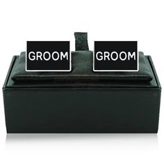 Engraved Groom Rectangle Cufflinks  from Personalised Gifts Shop - ONLY £12.95
