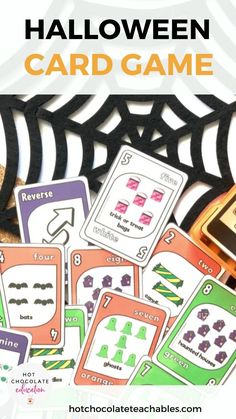 This Halloween card game will be a classroom favorite for practicing vocabulary, number sense and colors with a Halloween twist!