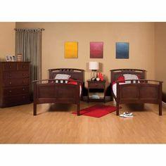 Astoria 3-piece Twin Bunkbed Set - Brown