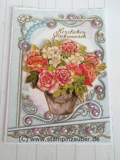 Perlenornamentkarte Herzlichen Glückwunsch von Silvi Unabh. Stampin' Up! Demonstratorin  aus Jena Thüringen http://www.stampinzauber.de