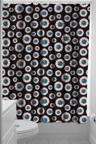 be079f9a0 Optical Delusion Shower Curtain Halloween Shower Curtain, Shower Curtain  Rings, Black Shower Curtains,