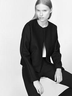 NON jacket 100% finest merino wool fabric model Malwina Garstka Modelplus Photographed by Kasia Bielska thisisnon.com