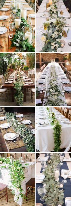 Bieżniki ze świeżych kwiatów lub ziół - https://wedding… na Stylowi.pl