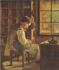 The cobbler by the window - Ferdinand Hodler