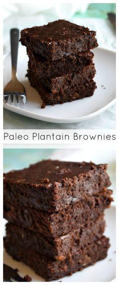 PALEO Plantain Fudge Brownies  #paleo #grainfree #glutenfree