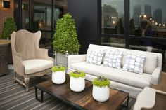 Chic patio space