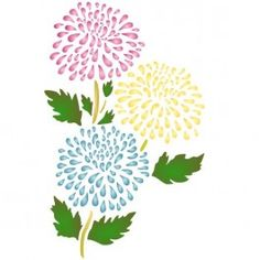 Brighten up you home with Stencils for Walls Chrysanthemum Stencil. Create a wallpaper-like feature wall or for DIY wall art. Stencilling is an effective and versatile way to customize any flat surfaces you may have. Our stencils are cheap and easy to use and also offer impeccable quality.