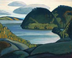 size: Premium Giclee Print: Coldwell Bay, North of Lake Superior by Lawren S. Harris : Artists Printed on thick, premium watercolor paper, this stunning print was made using a giclée printing process that delivers pure, rich color and remarkable detail. Tom Thomson, Emily Carr, Canadian Painters, Canadian Artists, Landscape Art, Landscape Paintings, Landscapes, Creative Landscape, Impressionist Landscape