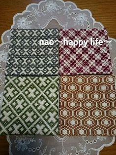 こぎん刺しのコースター - こぎん刺し nao~happy life~